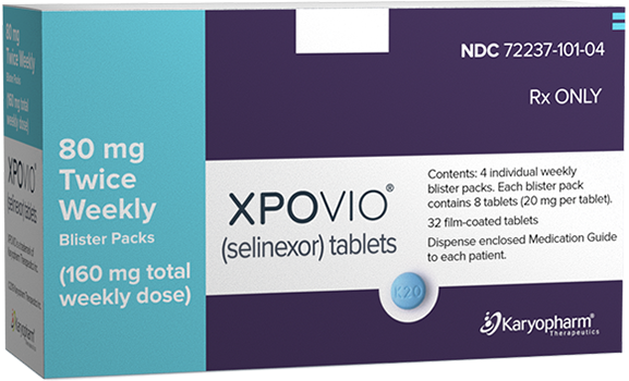 XPOVIO® (selinexor) 80 mg twice weekly dose packaging